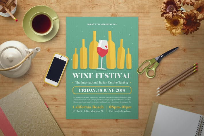 Thumbnail for Wine Festival Flyer