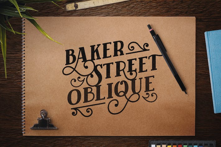 Thumbnail for Baker Street Black Oblique