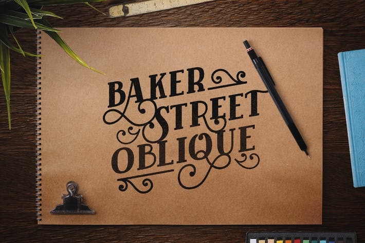 Thumbnail for Baker Street Negro Oblicuo