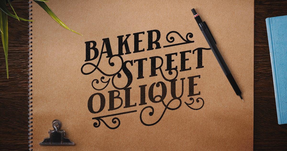 Download Baker Street Black Oblique by kimmydesign