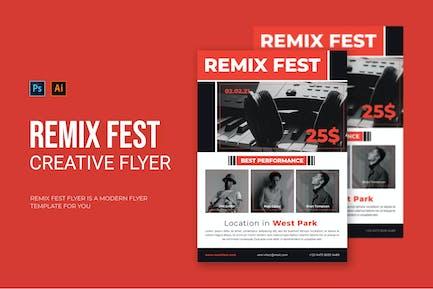 Remix Fest - Flyer
