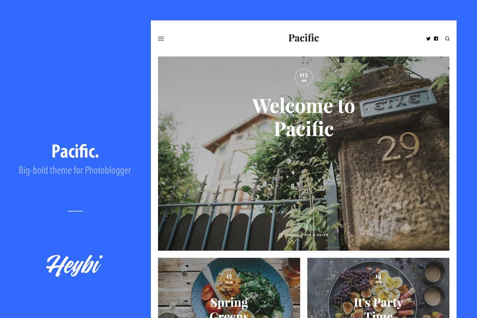 Download Pacific: Big-Bold Theme for Photoblogger by Heybi