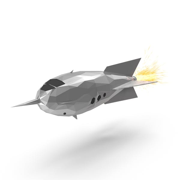 Thumbnail for Low Poly Rocket Ship