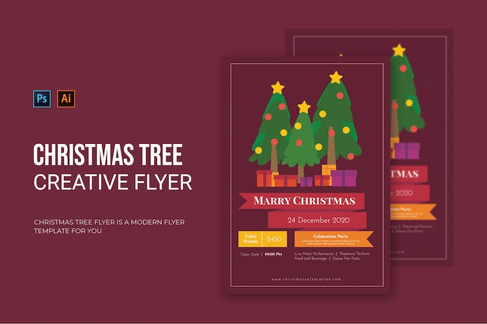 Thumbnail for Christmas Tree - Flyer