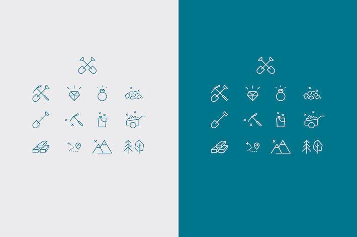 Goldgräber Icons Vektor-Set