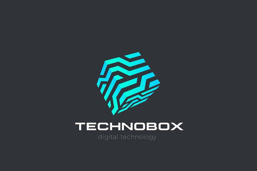 Technology Box Logo Cube Virtual Artificial