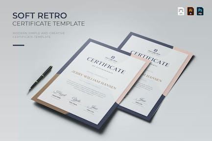 Soft Retro   Certificate