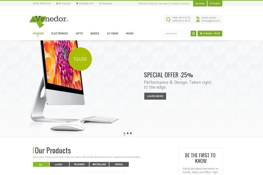 Venedor Premium Ecommerce Template