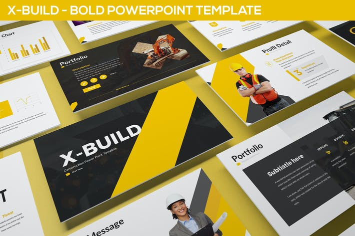 Thumbnail for X-Build - Bold Powerpoint Template