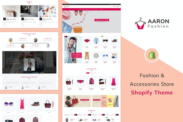 Thumbnail for Аарон - Мода Shopify Тема