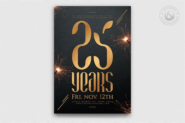 Cover Image For Birthday Anniversary Flyer Template