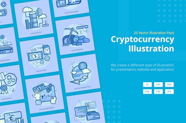 Thumbnail for Cryptocurrency Vector Illustration