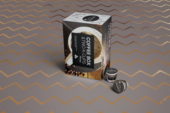 Thumbnail for 2 K-Cups-Coffee Box Mockup
