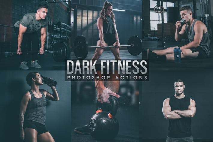 Thumbnail for Acciones Dark Fitness Photoshop
