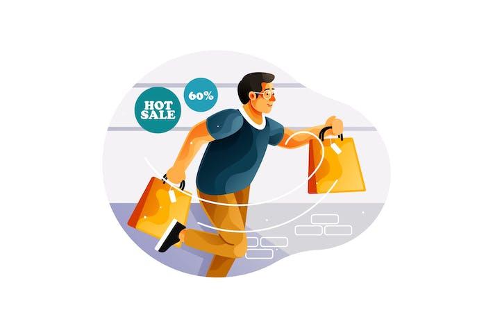 Thumbnail for Люди спешат бегать на продажу, когда скидка