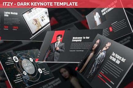 Itzy - Dark Keynote Template