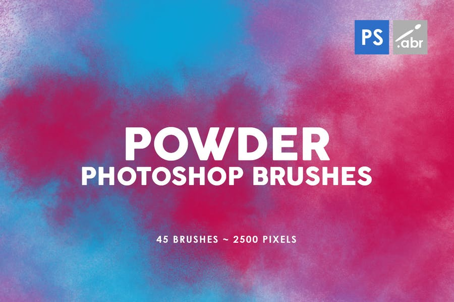 45 Powder Photoshop Stamp Brushes Vol.2