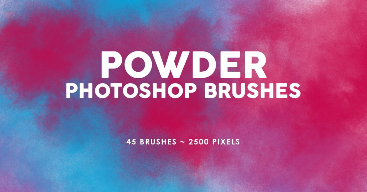 Download 45 Powder Photoshop Stamp Brushes Vol.2 by M-e-f