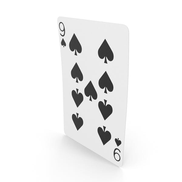 Playing Cards 9 of Spades