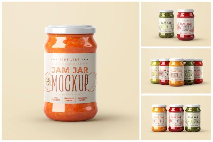 Thumbnail for Jam Jar Mockup Set | Label Design