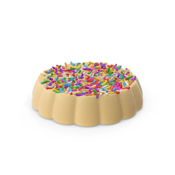 Cover Image for Disk White Chocolate With Colored Pops