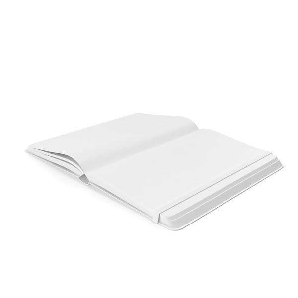 Cuaderno abierto monocromo