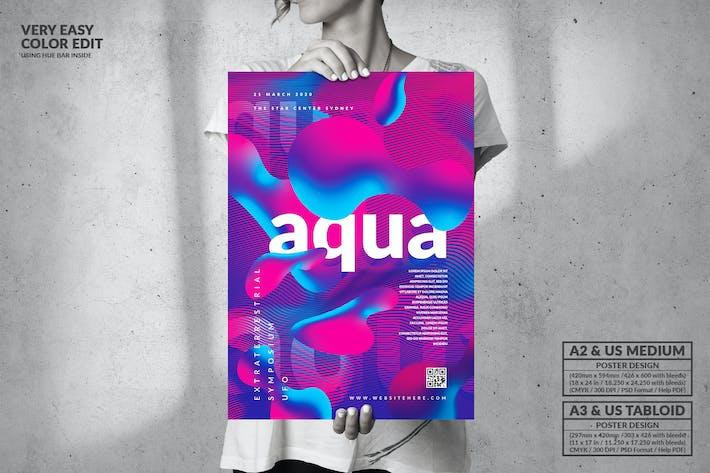 Thumbnail for Aqua Party Big Poster Design