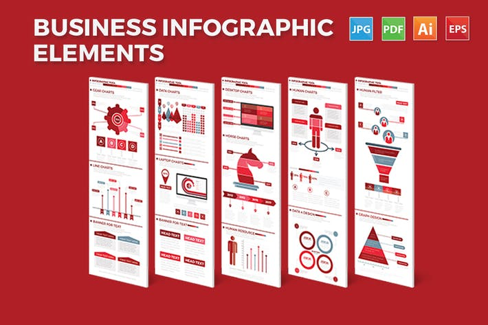 Thumbnail for Business Infographics Elements