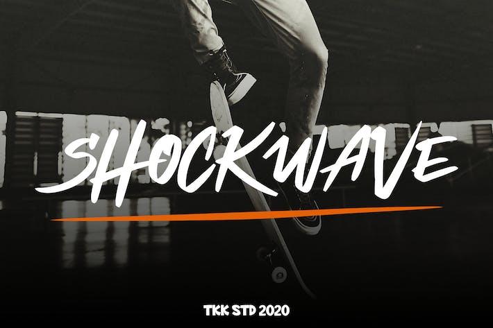 Thumbnail for Shockwave - Graffiti Font