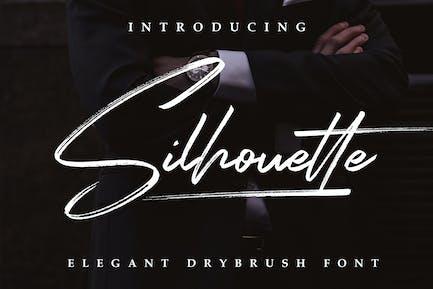 Silhouette Elegant Dry Brush Font