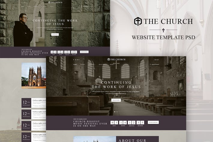 Church   WordPress Theme Design + WooCommerce