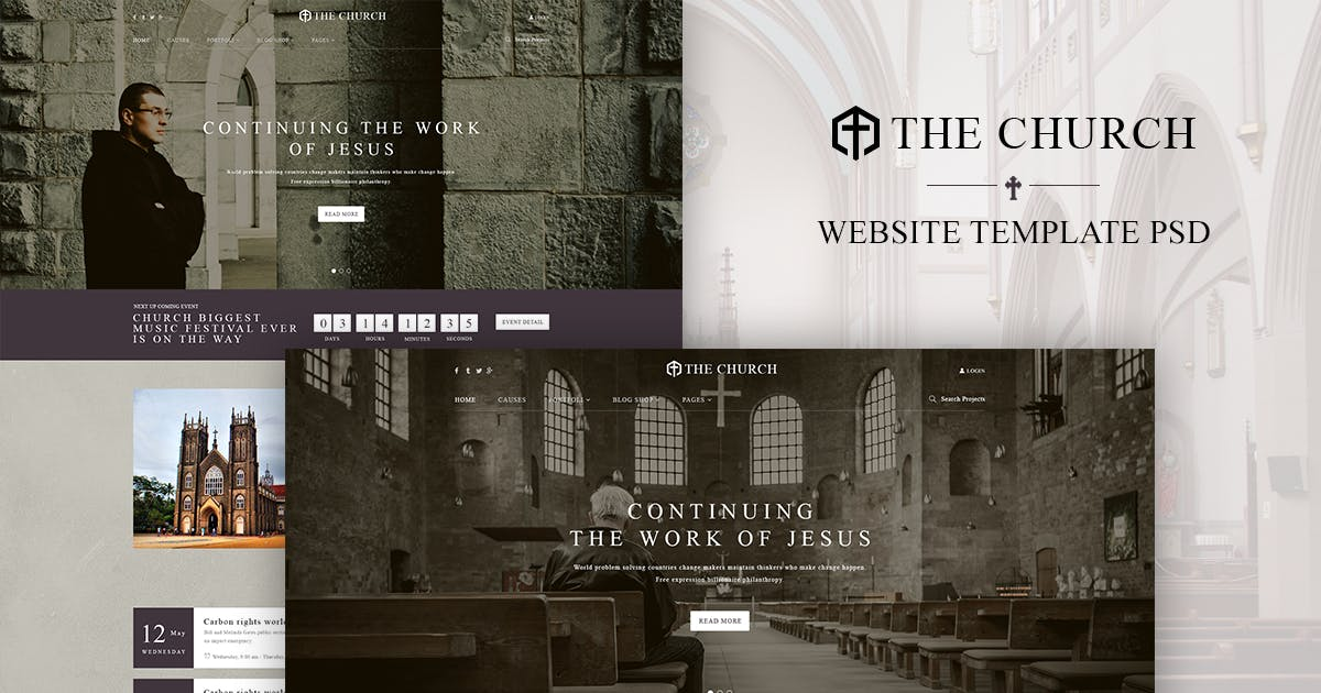 Download Church | WordPress Theme Design + WooCommerce by tvlgiao