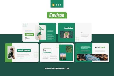 ENVIROO - Всемирный день окружающей среды Google Slides Temp