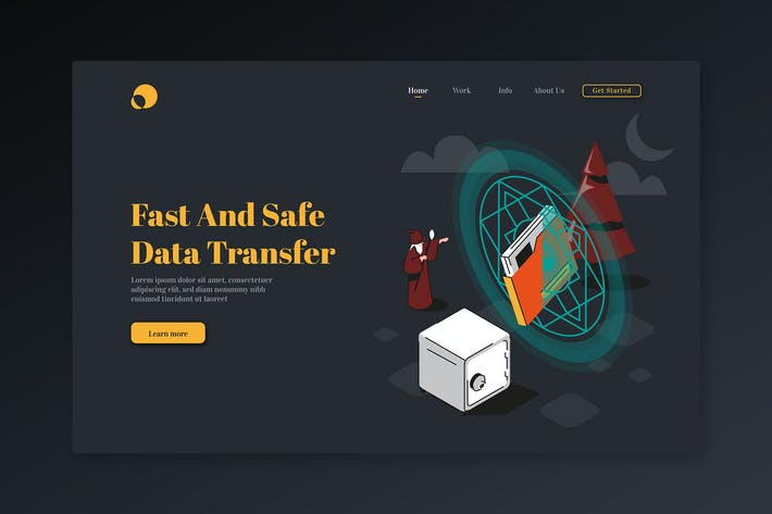 Thumbnail for Fast and Safe Data Transfer-Isometric landing Page