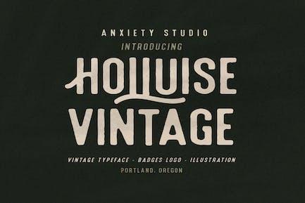Holluise Vintage Typeface