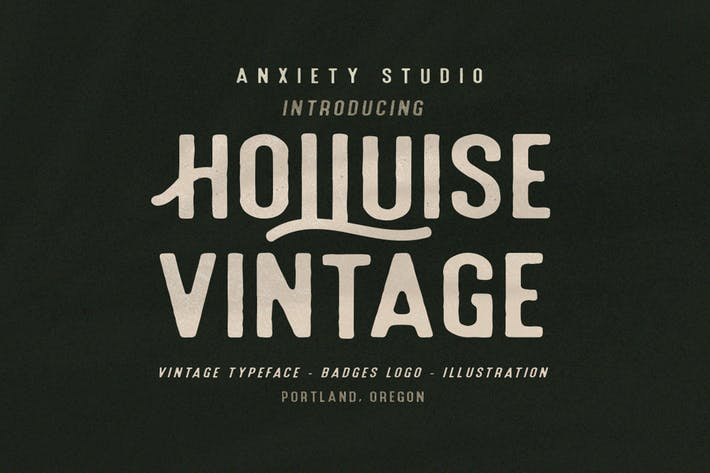 Thumbnail for Holluise Vintage Typeface