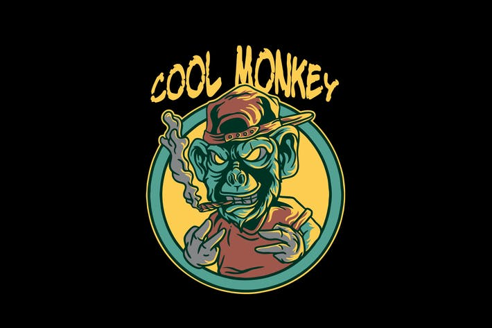 Thumbnail for cool monkey character illustration