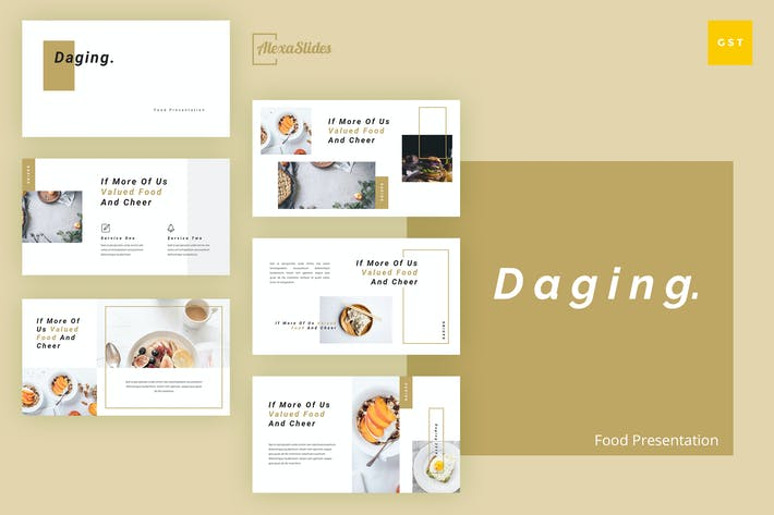 Thumbnail for Daging - Food Google Slides Presentation Template