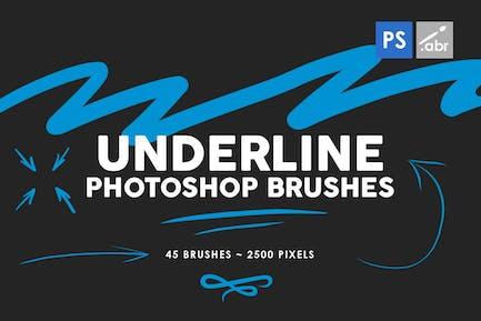 45 Underline Photoshop Stamp Brushes Vol. 1