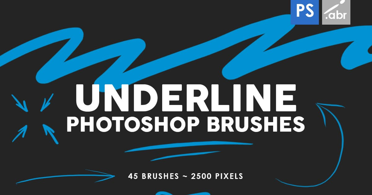 Download 45 Underline Photoshop Stamp Brushes Vol. 1 by M-e-f