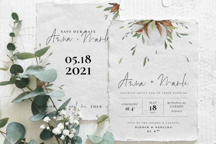 Thumbnail for Cotton Greenery Wedding Suite