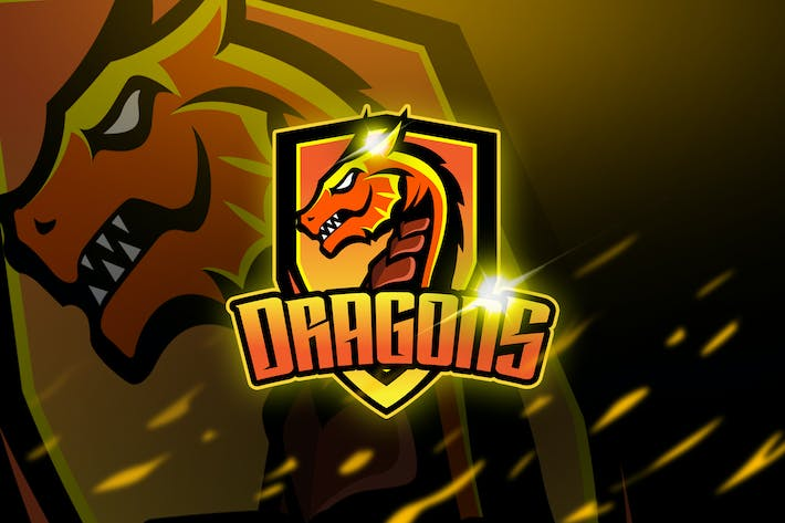 Thumbnail for Dragons - Mascot & Logo Esport