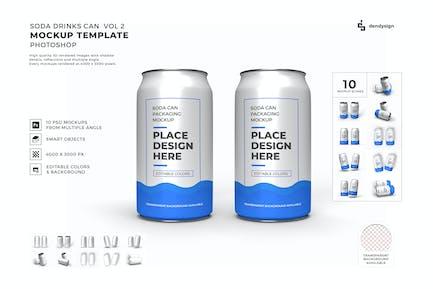 Drink Can Packaging Mockup Template Set Vol 2