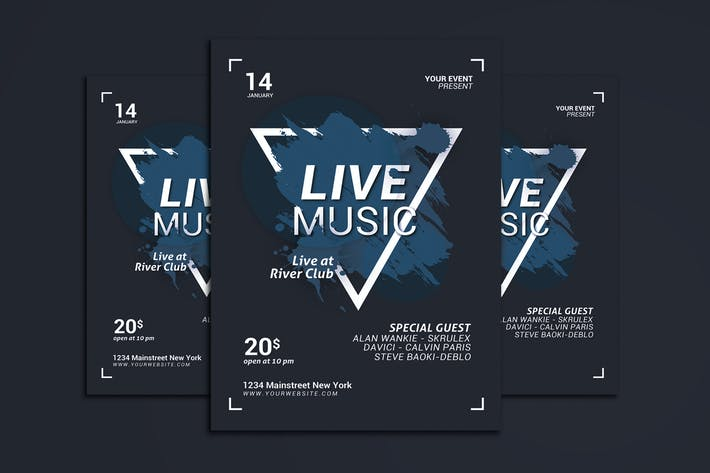 Thumbnail for Flyer de musique en direct