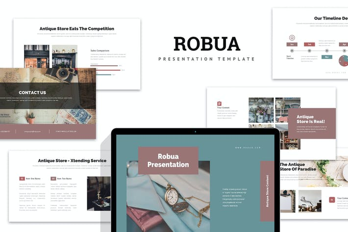 Robua : Antique Business Powerpoint
