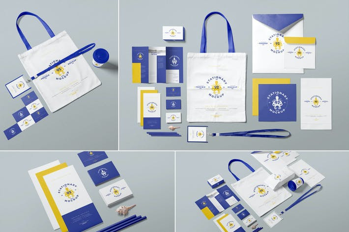 Thumbnail for Business Stationery Mockup Scenes