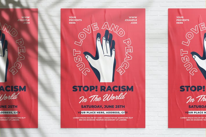 Thumbnail for Stop Racism Campaign Flyer