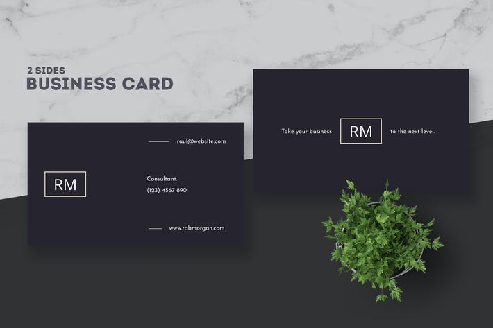 Cover Image For Consultant Business Card