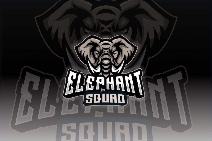 Elephant Sport and Esport Logo Template