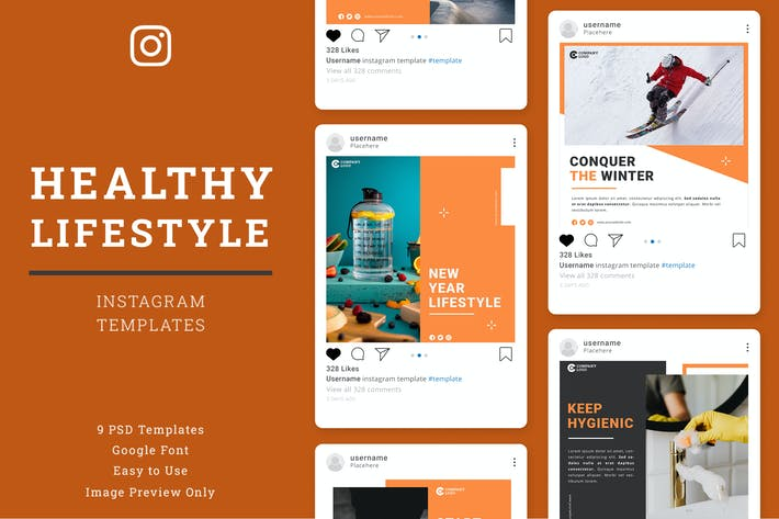 Thumbnail for Healthy Lifestyle Instagram Post Template